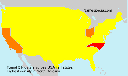 Surname Kloeters in USA