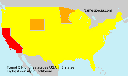 Surname Klungnes in USA