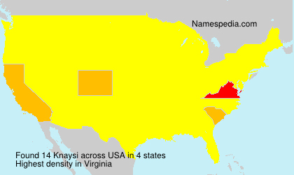 Surname Knaysi in USA