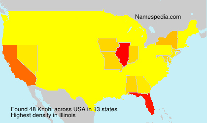 Surname Knohl in USA