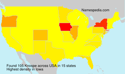 Surname Knospe in USA