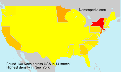 Surname Koes in USA