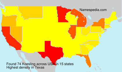 Surname Koesling in USA