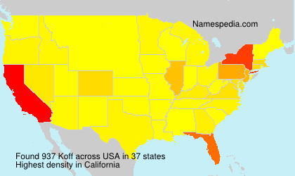 Surname Koff in USA