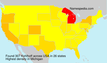 Surname Kohlhoff in USA