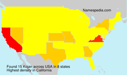 Surname Kojan in USA