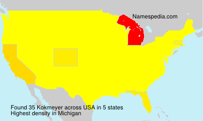 Surname Kokmeyer in USA