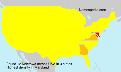 Surname Koletowo in USA
