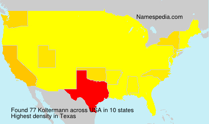 Surname Koltermann in USA