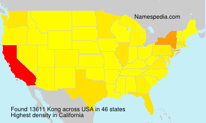 Surname Kong in USA