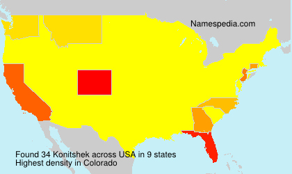Surname Konitshek in USA