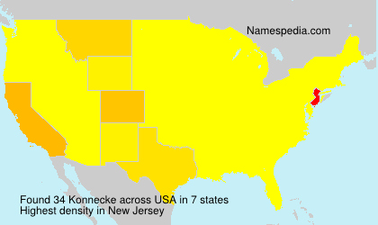 Surname Konnecke in USA