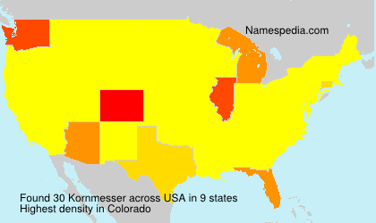 Surname Kornmesser in USA