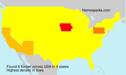 Surname Korpel in USA