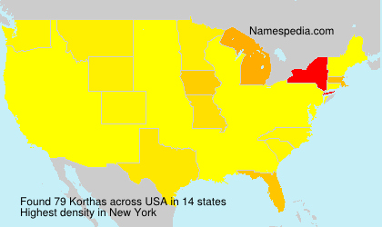 Surname Korthas in USA