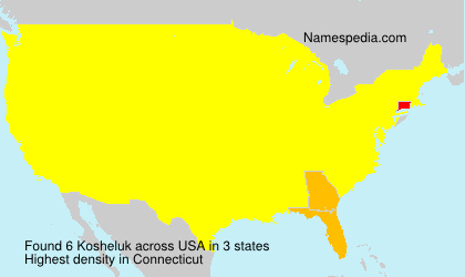 Surname Kosheluk in USA