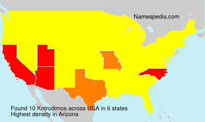 Surname Kotrodimos in USA