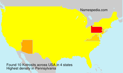 Surname Kotrosits in USA