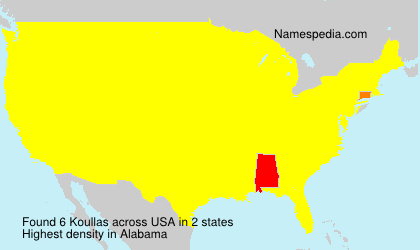 Surname Koullas in USA