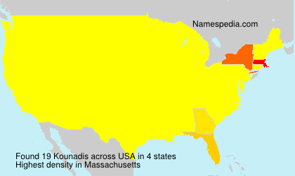 Surname Kounadis in USA