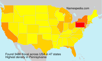Surname Koval in USA