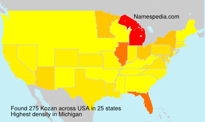 Surname Kozan in USA