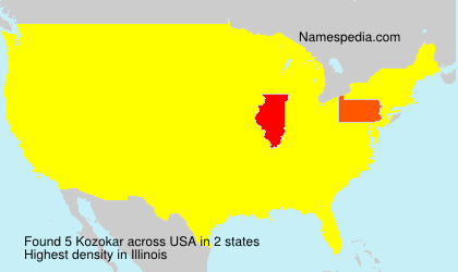 Surname Kozokar in USA