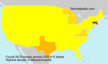 Surname Kozowyk in USA