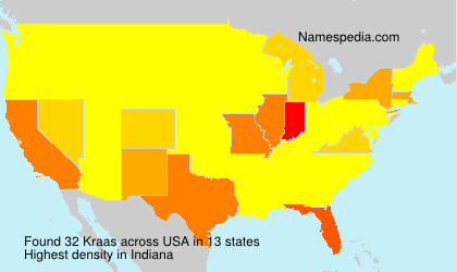 Surname Kraas in USA