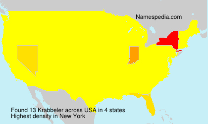 Surname Krabbeler in USA