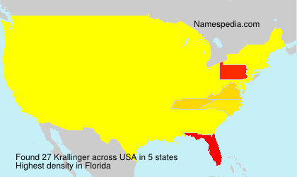 Surname Krallinger in USA