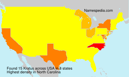 Surname Kratus in USA
