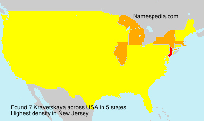 Surname Kravetskaya in USA