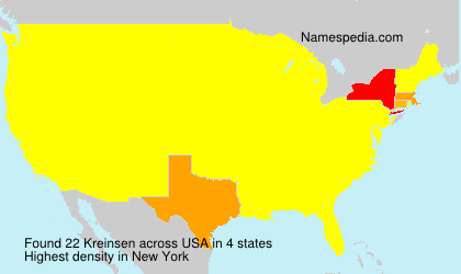 Surname Kreinsen in USA