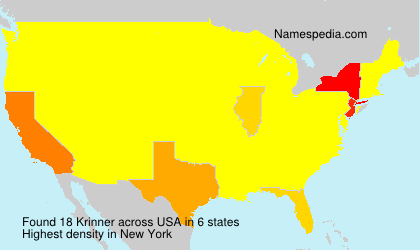 Surname Krinner in USA