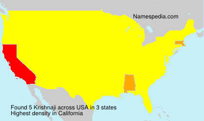 Surname Krishnaji in USA