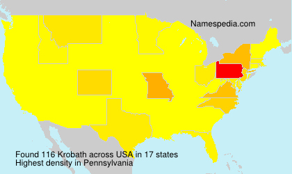 Surname Krobath in USA