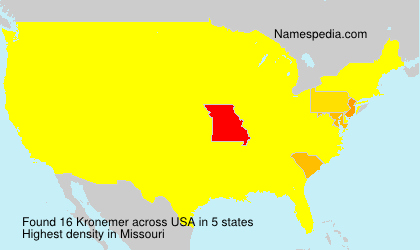 Surname Kronemer in USA