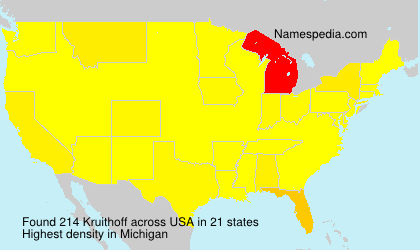 Surname Kruithoff in USA