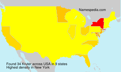 Surname Kruter in USA
