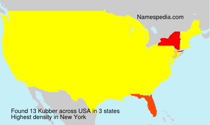 Surname Kubber in USA