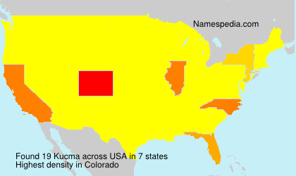 Surname Kucma in USA