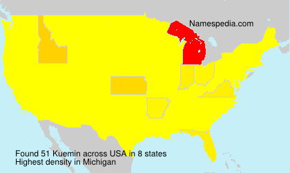 Surname Kuemin in USA