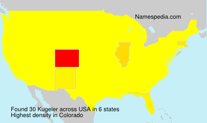 Surname Kugeler in USA