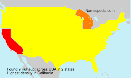 Surname Kuhaupt in USA