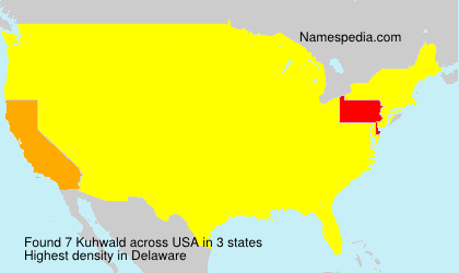 Surname Kuhwald in USA