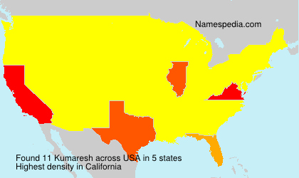 Surname Kumaresh in USA