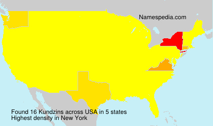 Surname Kundzins in USA