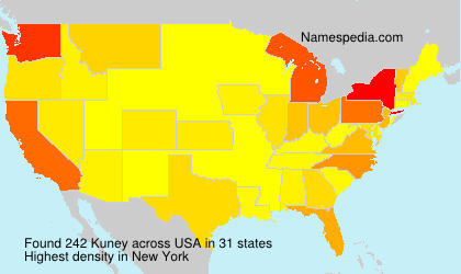 Surname Kuney in USA