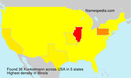 Surname Kunkelmann in USA